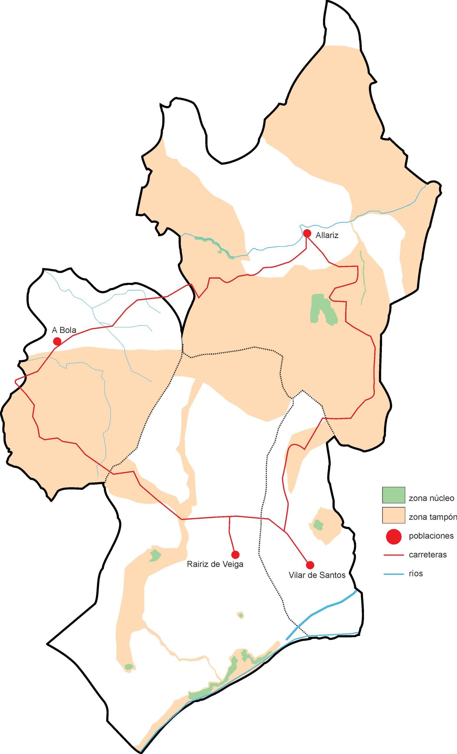 Mapa Reserva Biosfera Area de Allariz